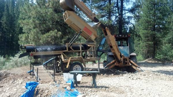 Portable Gold Trommel 10 tons per hour heckler fabrication