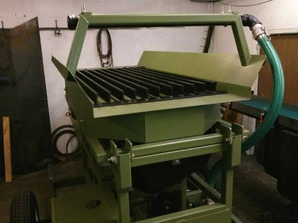portable gold & diamond trommel wash plant heckler fabrication