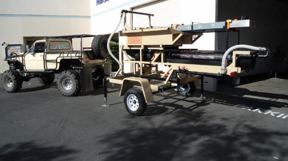 Portable Gold & Diamond Trommel wash plant by Heckler Fabrication
