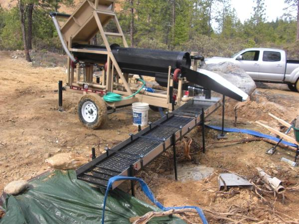 portabler gold trommel heckler fabrication